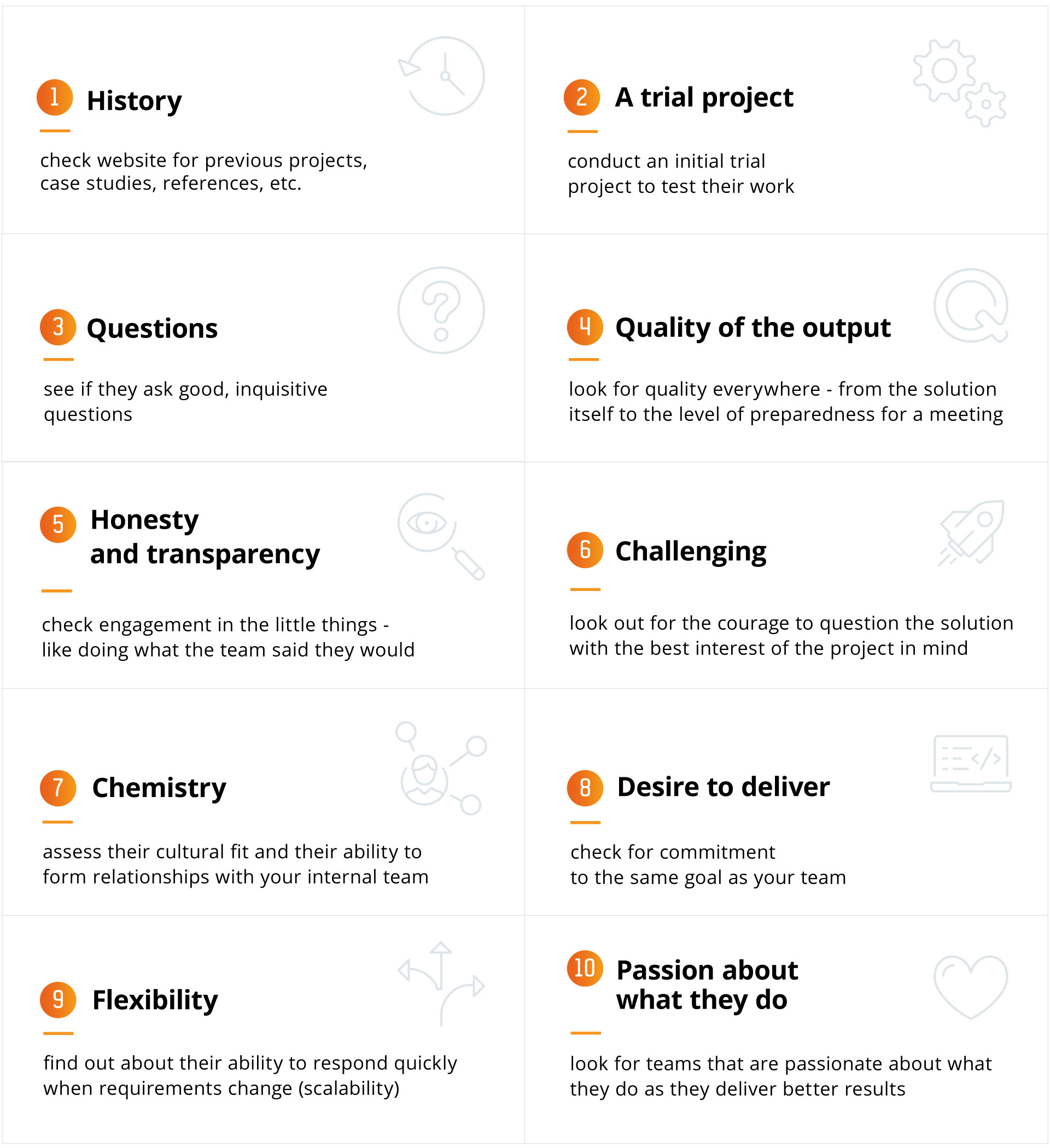 10 signs your technology partner is engaged in the project