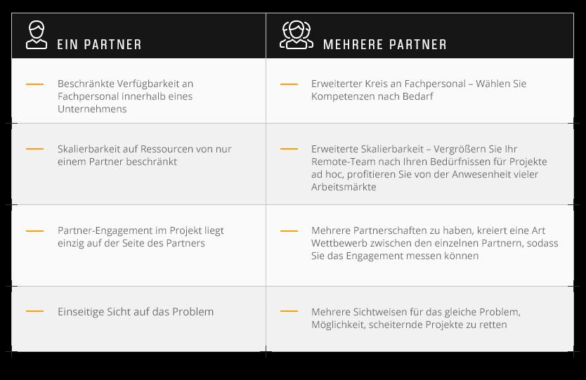 7. Warum ist es gut, mehr als einen Software-Partner zu haben?